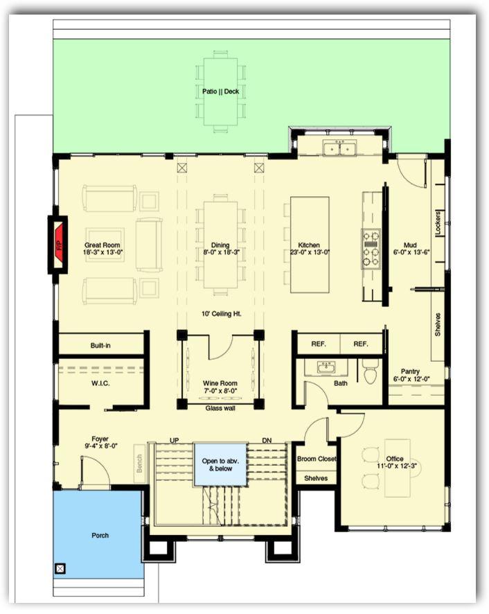 Planos de casas modernas de una planta interesting plano - Planos de casas modernas de una planta ...