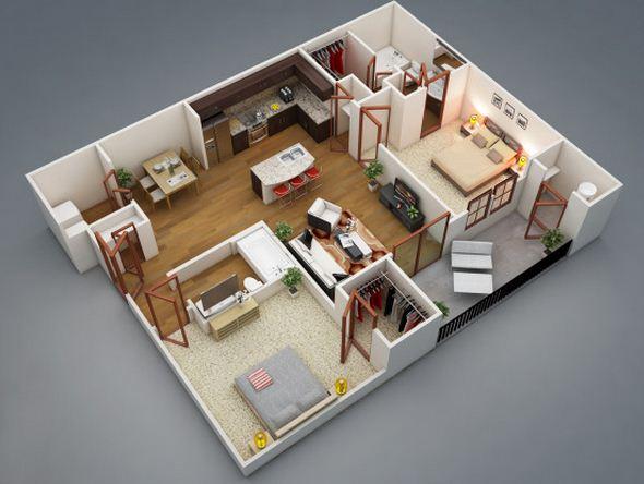 plano-en-3d-de-2-dormitorios-y-2-banos