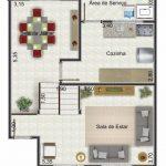 Casa de dos pisos pequeña con medidas en metros