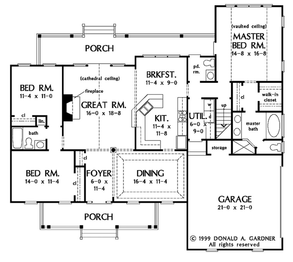 14 one story 4 bedroom house floor plans bute homes - Planos de casas modernas ...