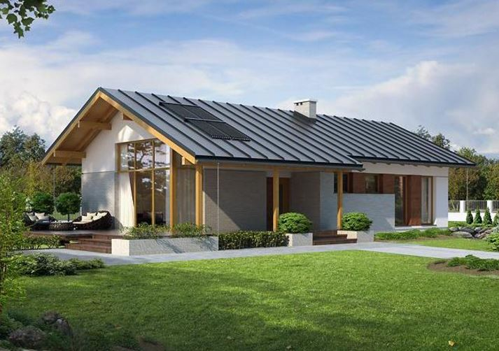 Modelos de casas de un piso bonitas planos de casas modernas for Modelos de casas con techos de chapas