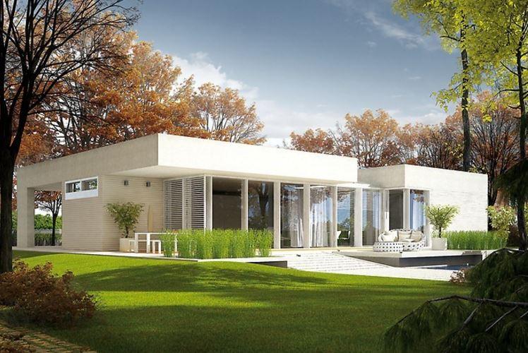 Fachadas y planos de casas modernas for Plantas de viviendas modernas