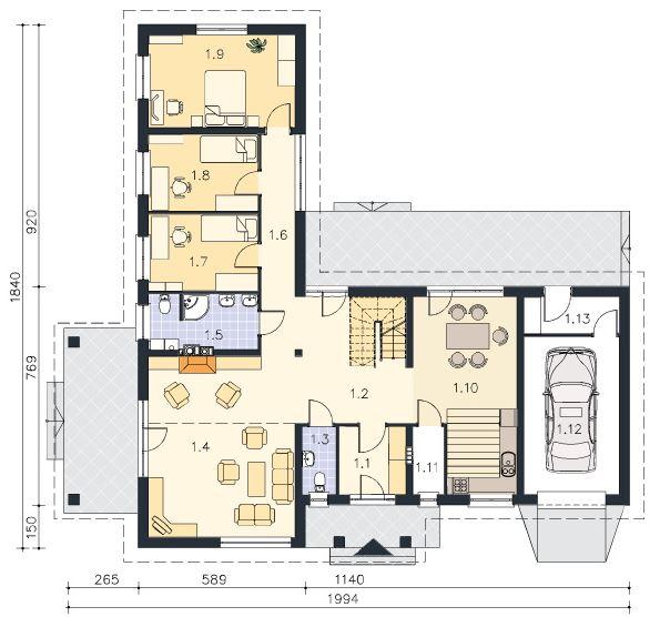 Planos de casas de dos pisos en l for Casas en ele planos