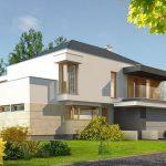 Planos de casas modernas de dos pantas con fachada