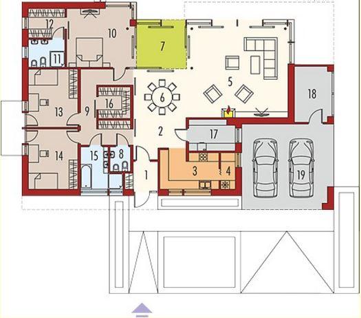 Fachadas y planos de casas modernas for Planos de casas 6x20