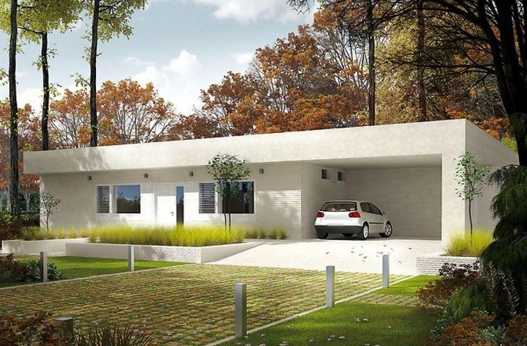 Fachadas y planos de casas modernas for Modelos de casas de una planta modernas