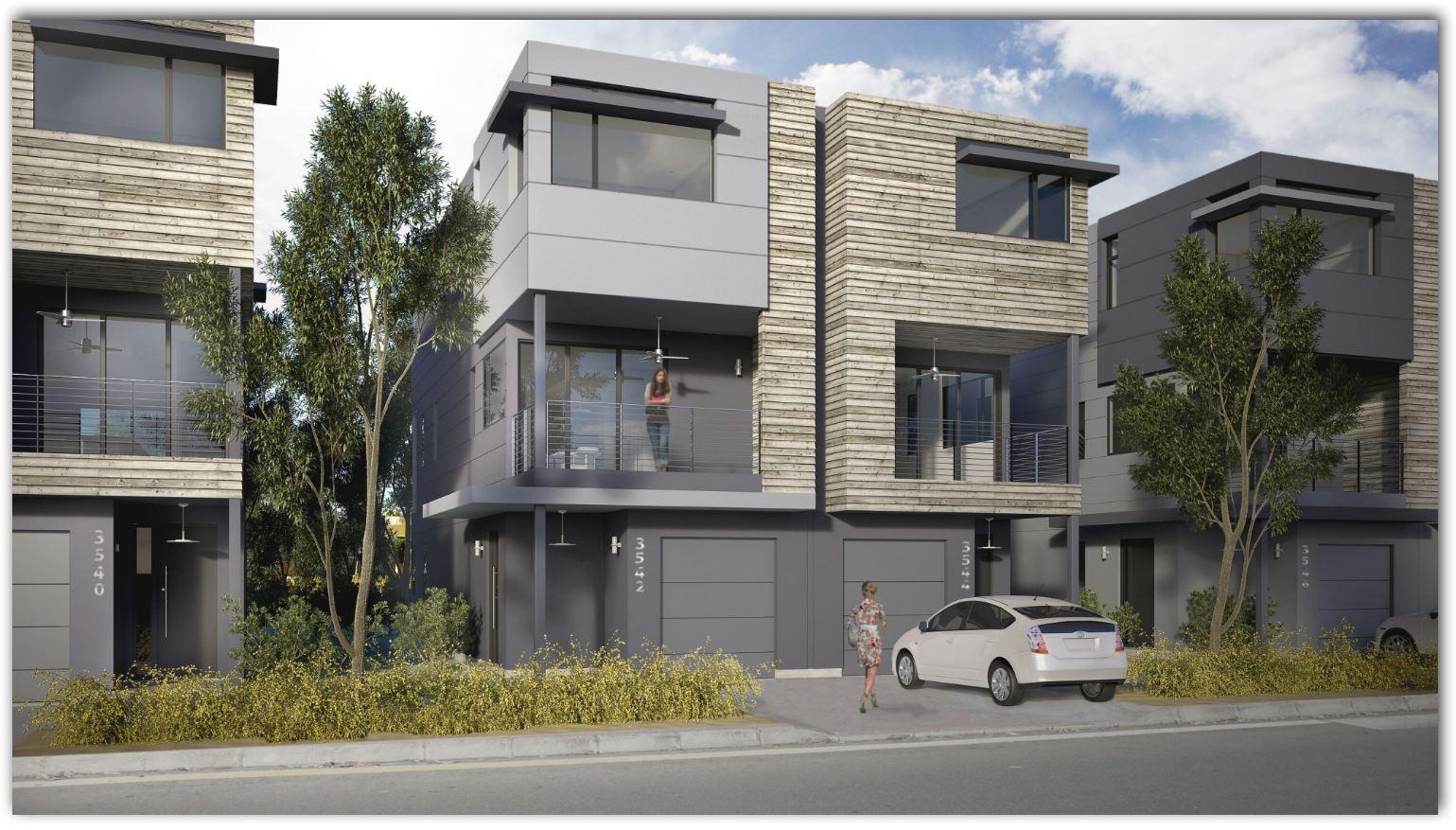 plano de casa adosada planos de casas modernas