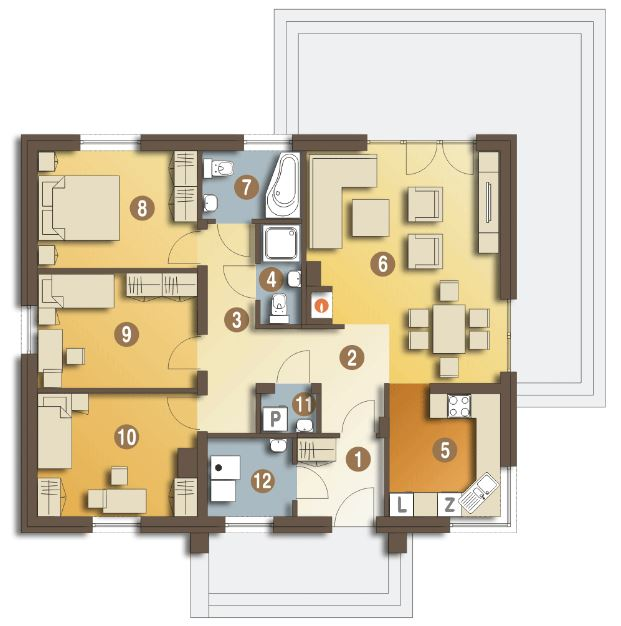 Plano de casa de 90 m2 planos de casas modernas for Diseno de apartamentos de 90 metros cuadrados