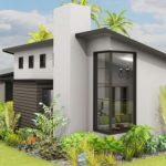 Plano de casa moderna en L