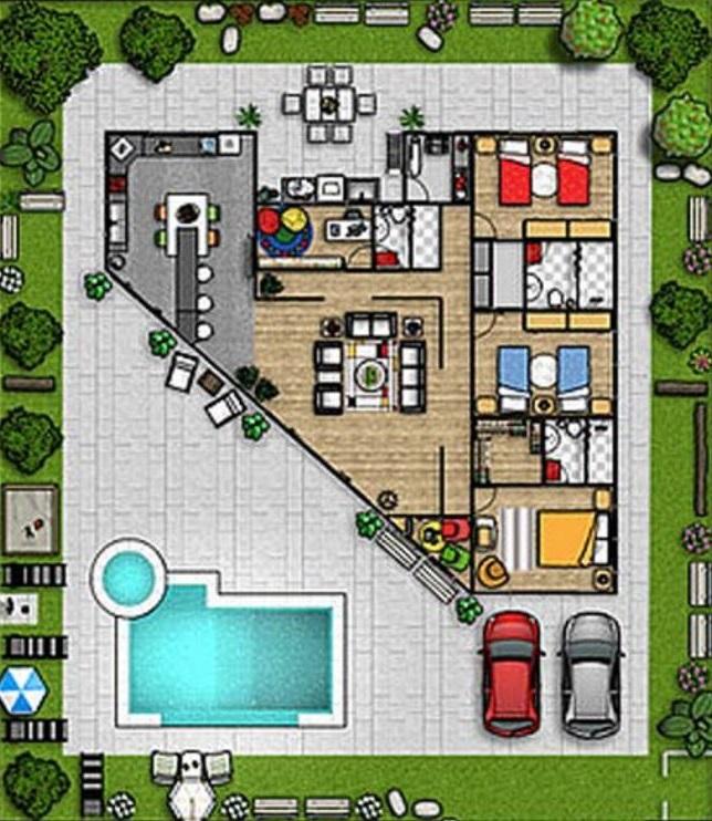 Planos de casas modernas planos de casas gratis y modernas - Plano casa una planta ...