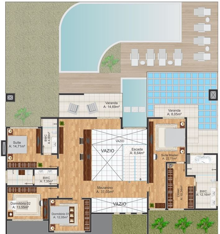 planos-de-casas-modernas-de-dos-plantas-grande