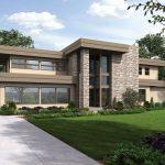 Plano de casa de 500 metros cuadrados con 2 pisos