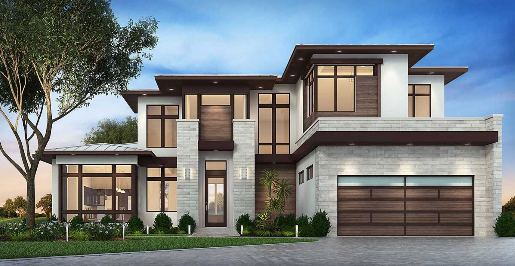 Planos de casas modernas planos de casas gratis y modernas for Modern contemporary house plans for sale