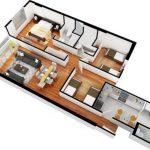Departamento de 100 metros cuadrados con muebles