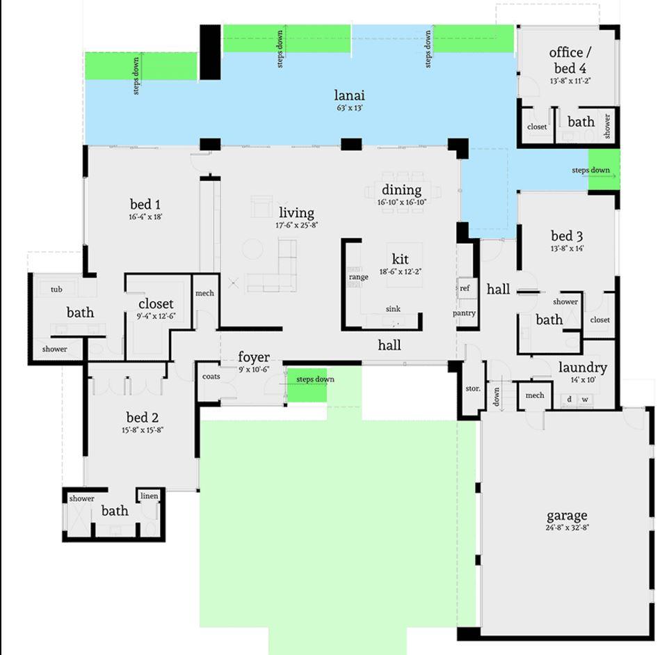 plano-de-casa-de-4-dormitorios-con-3-garajes
