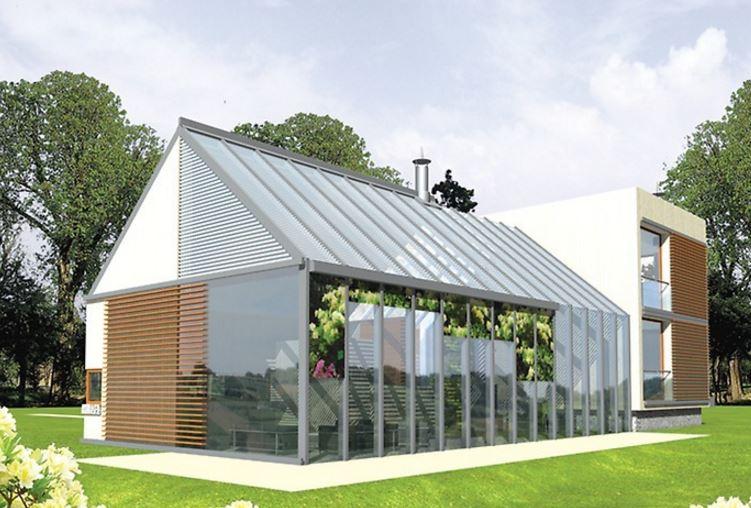 Casa moderna con techo inclinado planos de casas modernas - Tipos de tejados para casas ...
