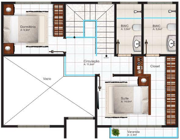 Plano de casa de 120 m2 planos de casas modernas - Como disenar planos de casas ...