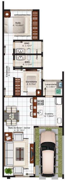 Planos de casas modernas planos de casas gratis y modernas for Planos de casas 6x20