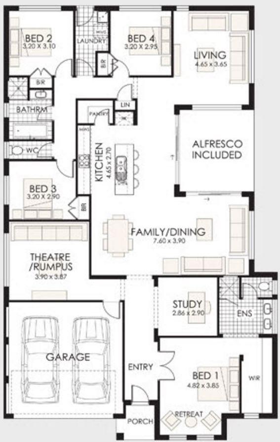 Plano de casa de un piso planos de casas modernas for Planos para casas de un piso