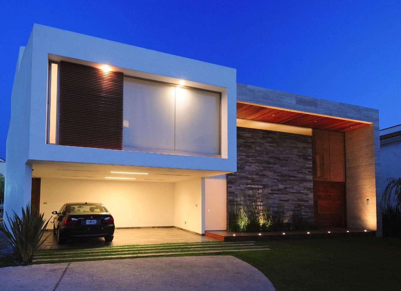 Fachada moderna minimalista for Diseno de fachadas minimalistas