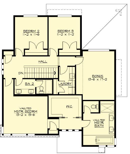 Planos de chalets de dos plantas plano de casa moderna de for Dormitorio 15 metros cuadrados