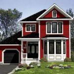 Casa de madera de dos pisos