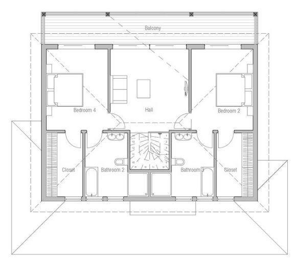 Planos de casas de dos plantas con un dormitorio abajo - Plantas para dormitorio ...