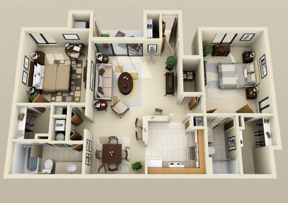 Plano en 3d planos de casas modernas for Planos de cocinas 3d