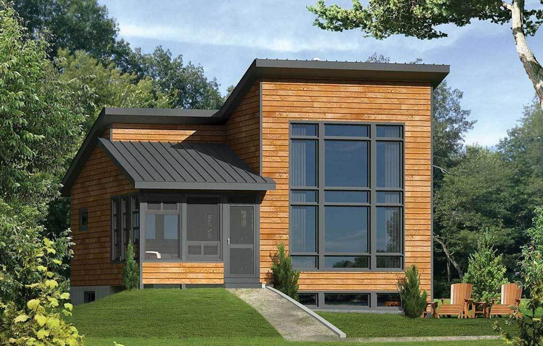 madera | planos de casas modernas