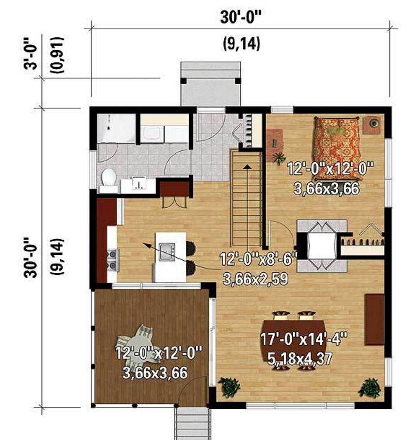Plano de casa moderna planos de casas modernas Planos interiores de casas modernas