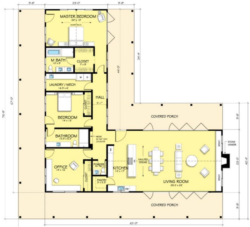 Plano de casa planos de casas modernas for Casa moderna 4 ambientes