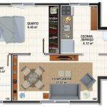 Planos de minidepartamentos de 30m2