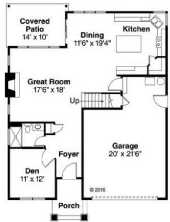 3 dormitorios planos de casas modernas for Bano 6 metros cuadrados