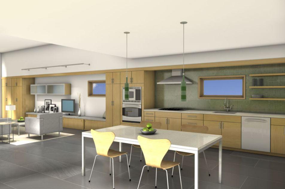 2 dormitorios planos de casas modernas for Diseno pisos