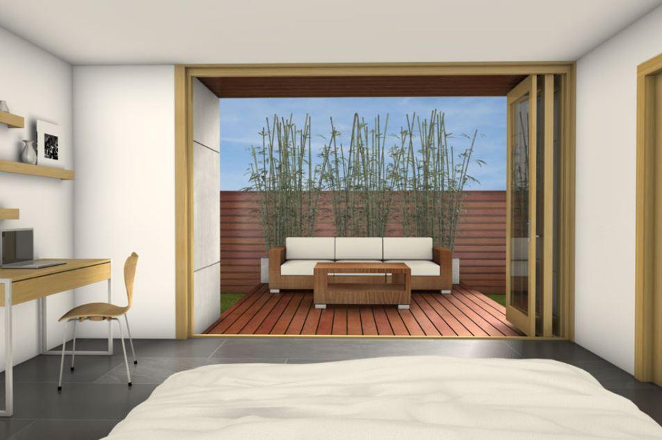 2 dormitorios planos de casas modernas for Pisos para casas minimalistas