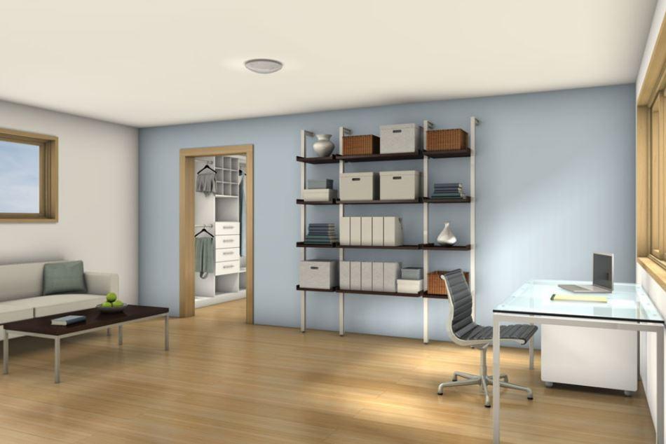 2 dormitorios planos de casas modernas for Oficina en casa diseno