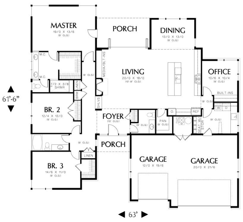 4 dormitorios planos de casas modernas for Planos de viviendas de un piso