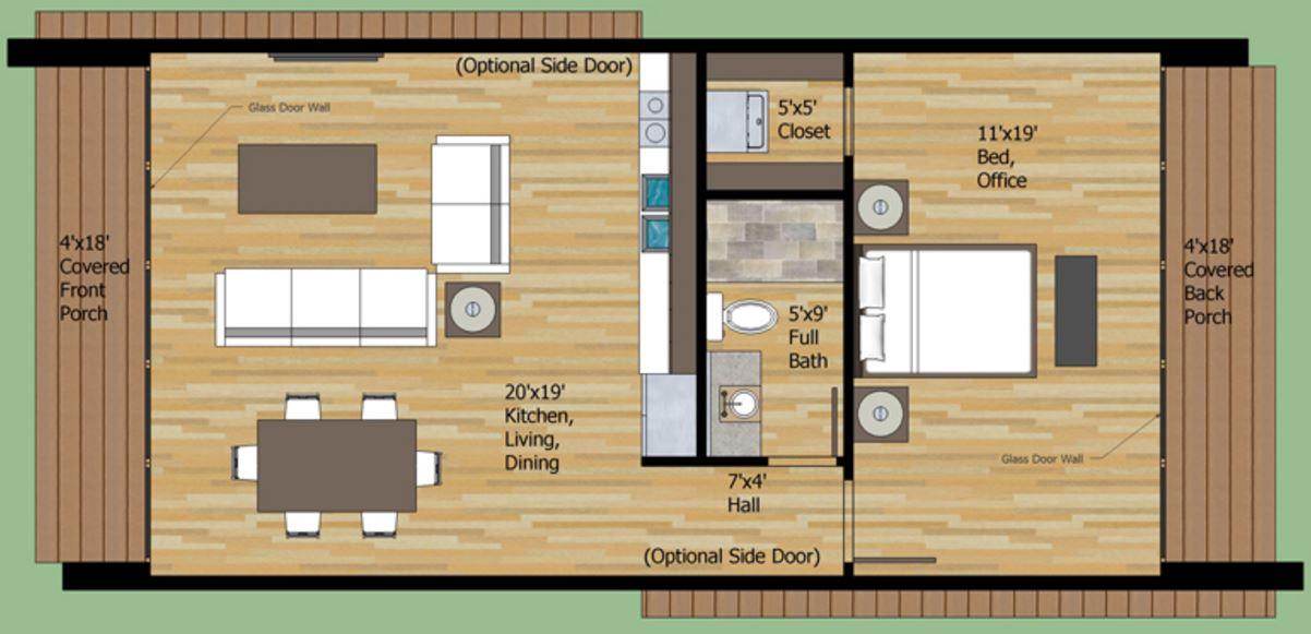 Plano de casa peque a planos de casas modernas for Planos de una cocina pequena
