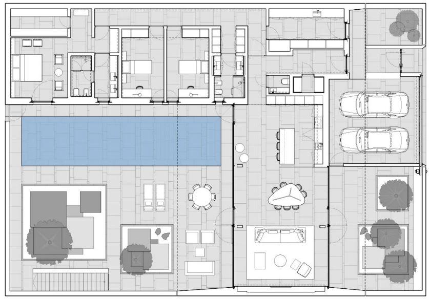 Planos de casas minimalistas de 3 habitaciones for Plano casa minimalista 3 dormitorios