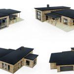 Plano de casa para terreno grande