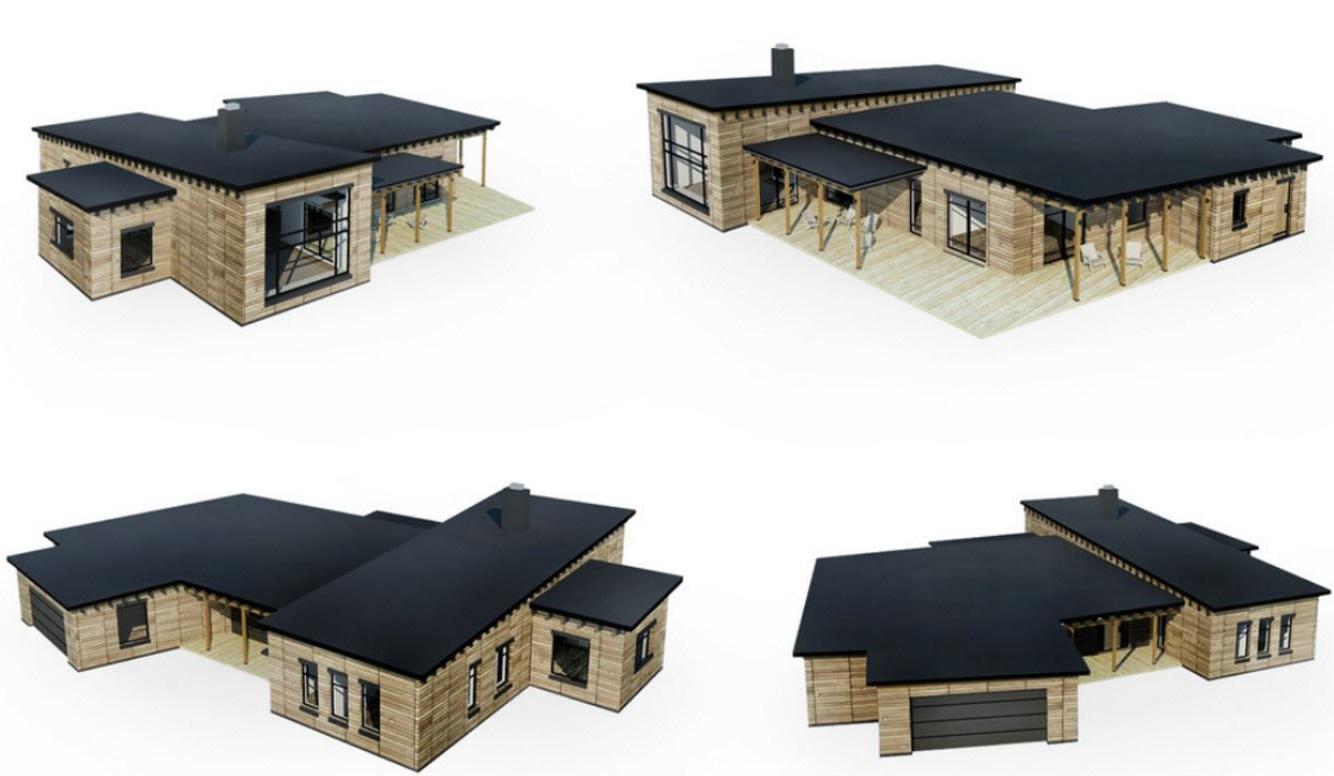 Plano de casa para terreno grande for Construir casas en 3d