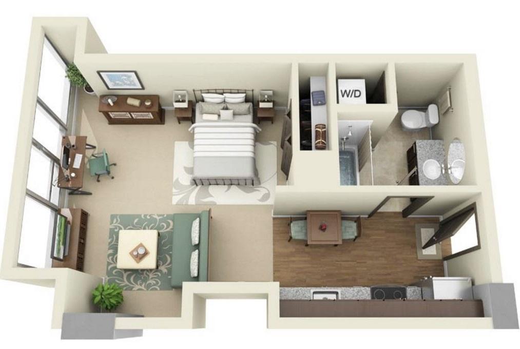 5 planos de casas peque os for Decorar piso de 60 metros cuadrados