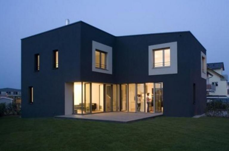 Fachada planos de casas modernas for Colores modernos para fachadas
