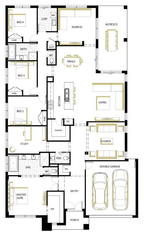 Planos de casas de 1 piso y 4 habitaciones - Planos casas modernas 1 piso ...