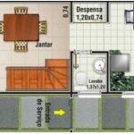 Casa angosta y larga para terreno de 5×10