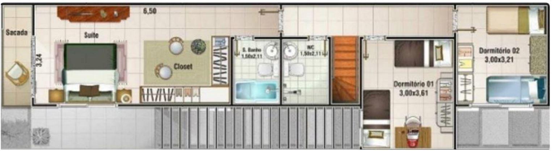 Plano de casa angosta planos de casas modernas - Distribucion casa alargada ...