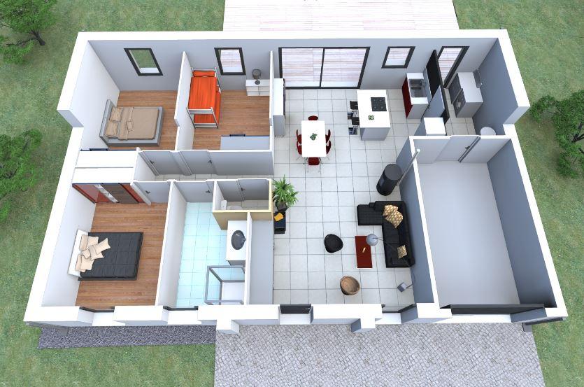 Planos de casas de 80 metros cuadrados de una planta 3 for Casa moderna 80m2