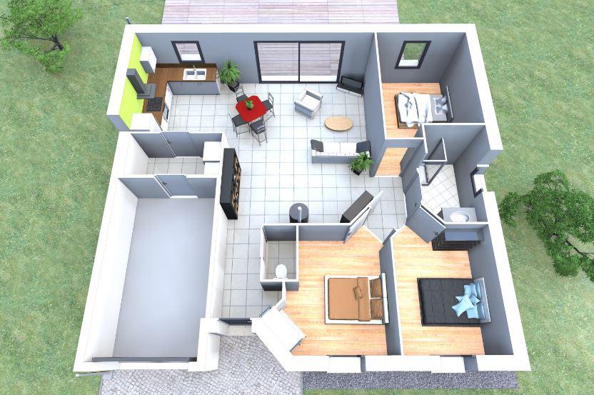 Planos de casas de 80 metros cuadrados de una planta 3 for Lavaderos para casa