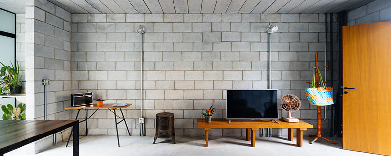 Dise o de casas de bloques de hormigon for Instalacion electrica jardin