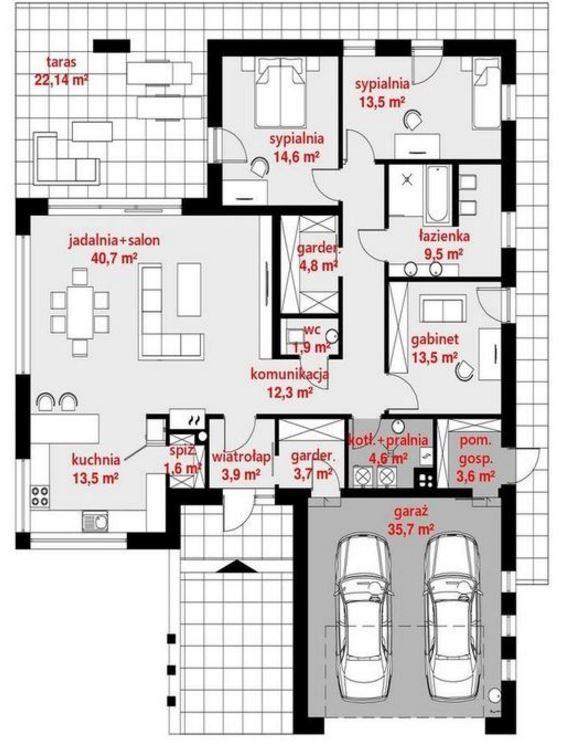 Planos de casas modernas de 1 piso y 3 habitaciones for Planos de habitaciones